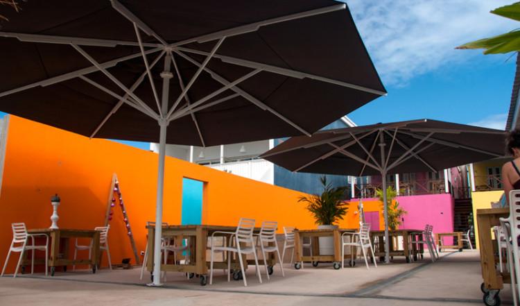 Innergården till Bijblauw Hotel, Willemstad, Curacao