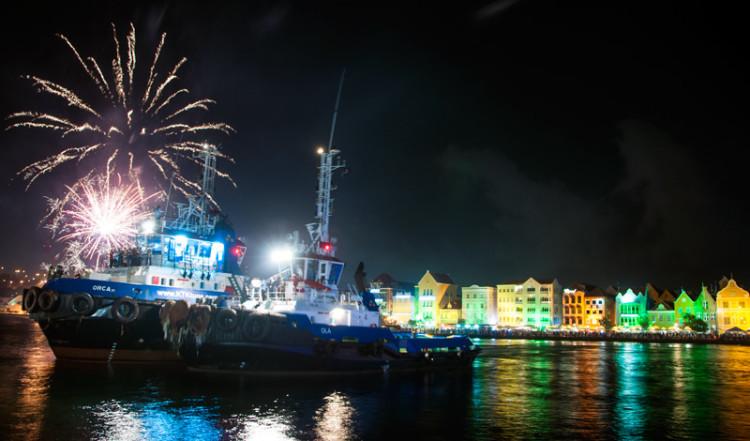 Fyrverkerier och Nyårsfirande i Punda, Willemstad