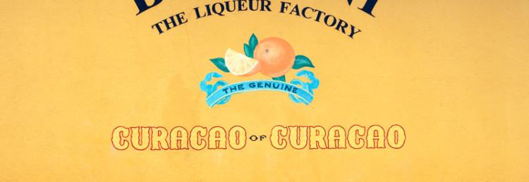 Väggmålning på Liqueur Factory, Willemstad i Curacao