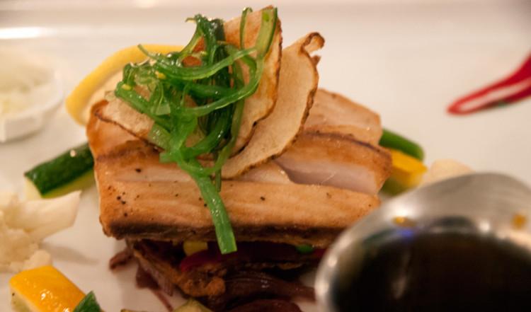 Middag på restaurangen till Floris Suite Hotel i Willemstad, Curacao