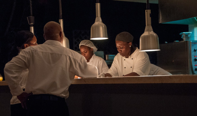 Köket till restaurangen på Floris Suite Hotel i Willemstad, Curacao