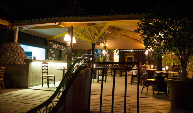 Tomatoes Restaurant vid Pirate Bay i Piscadera, Curacao