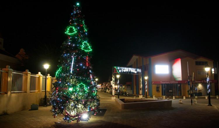 Julgran i Kralendijk stad, Bonaire