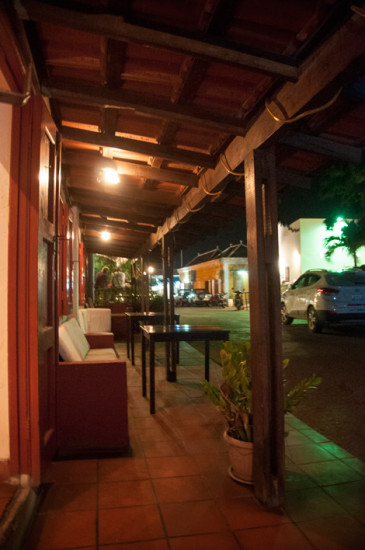 Verandan till La Guernica Restaurang, Bonaire