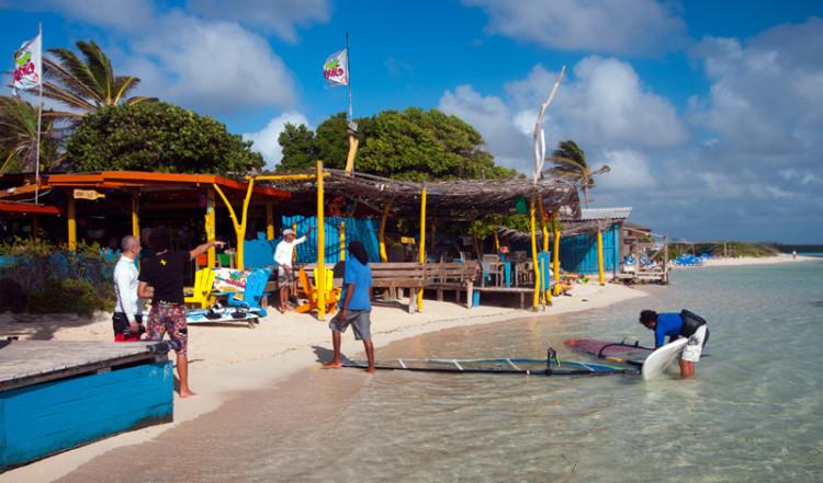 Förmiddag på Jibe City, Bonaire
