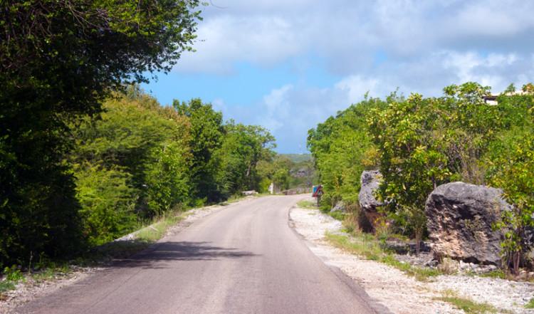 Vi kör norrut på Bonaire