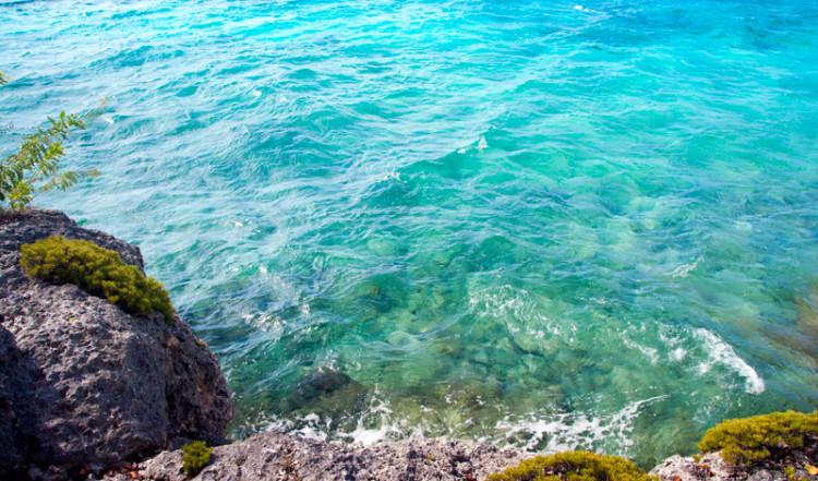 Vackert och klart vatten