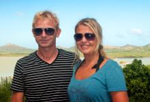 Lars & Anki vid Goto Meer Sjö, Bonaire