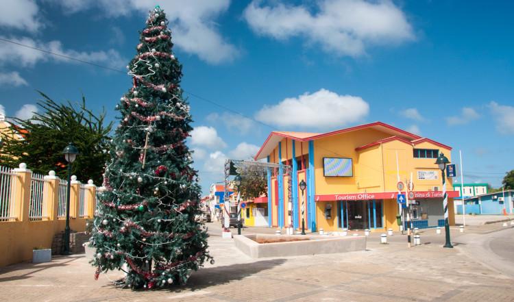 Kralendijk stad på Bonaire