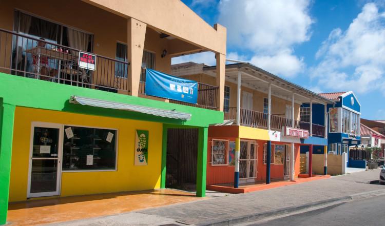 Hus i centrala Kralendijk, Bonaire