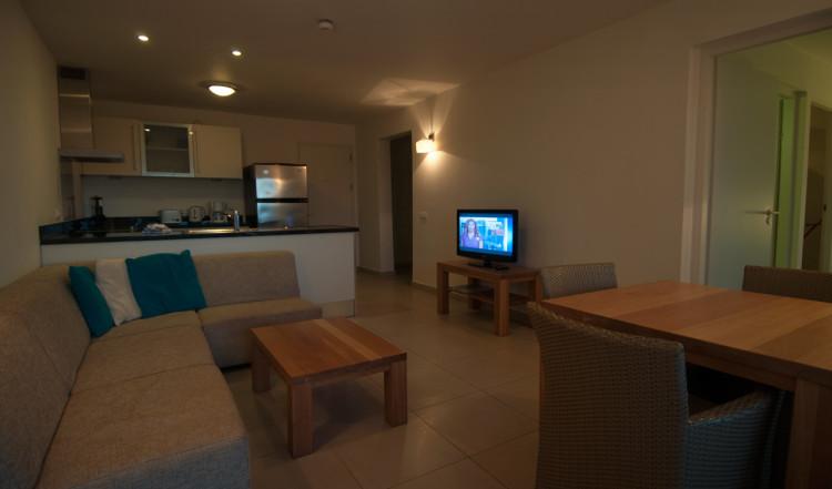 Vardagsrum i vårt rum på Blue Bay Curaçao Golf & Beach Resort