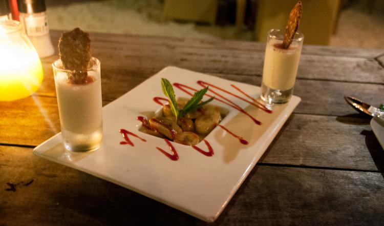 Dessert på AzZuro Restaurang på Blue Bay Curaçao Golf & Beach Resort