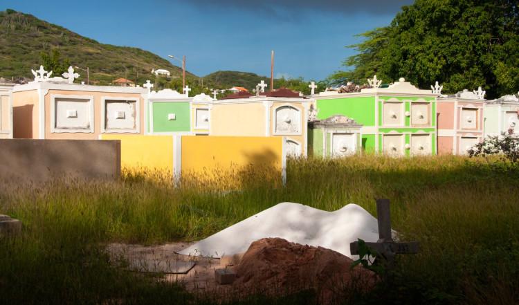 Westpunt kyrkogård på norra Curaçao