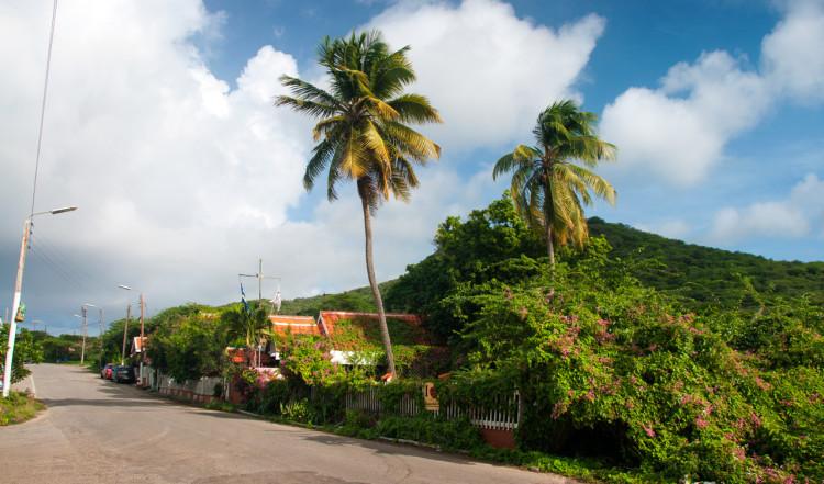 Gata vi Westpunt på norra Curaçao
