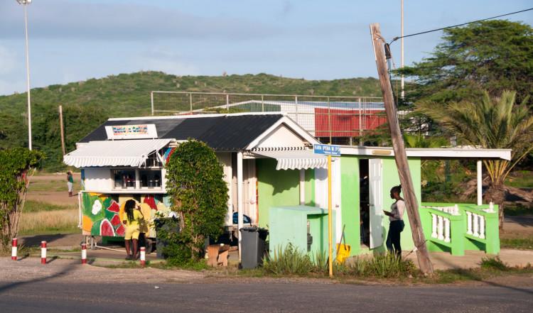 Kiosk på norra Curaçao
