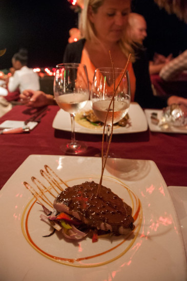 Middag på Scampi Restaurang, Curaçao