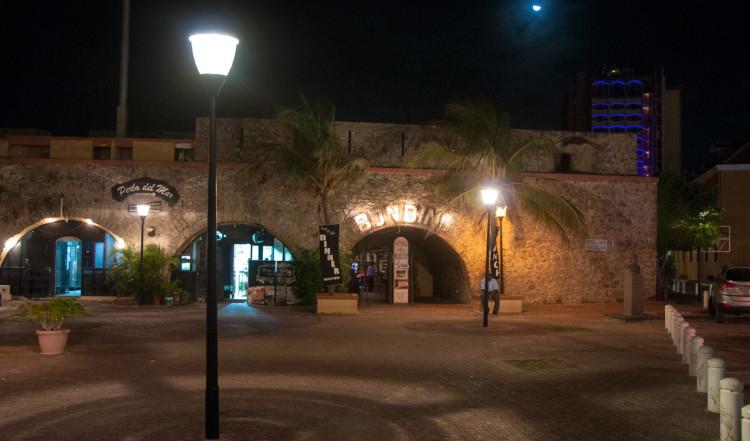 Restaurangområde med havsutsikt i Willemstad, Curaçao