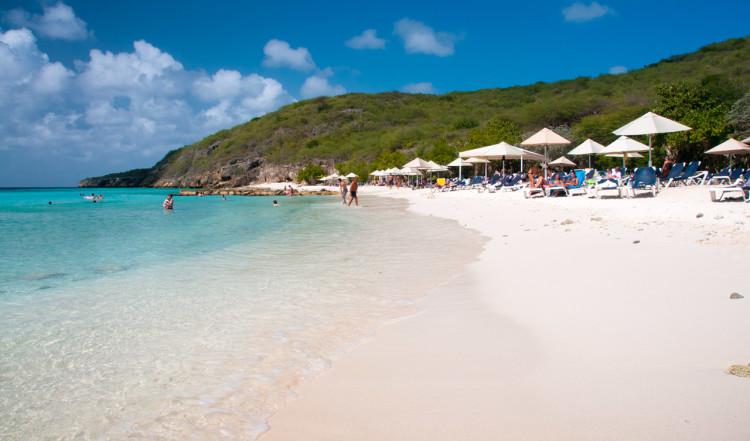 Playa Porto Mari på Curaçao är en fantastiskt vacker strand