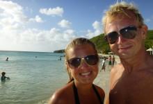 Anki & Lars på Playa Porto Mari, Curaçao