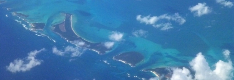 Vackra vyer under flygresan mellan Curaçao och Miami