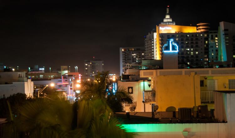 Kvällsvy från Dream South Beach, Miami
