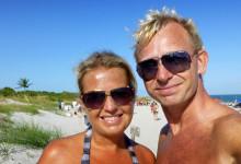 Anki & Lars på stranden - Bill Baggs Cape Florida State Park, Key Biscayne, Miami