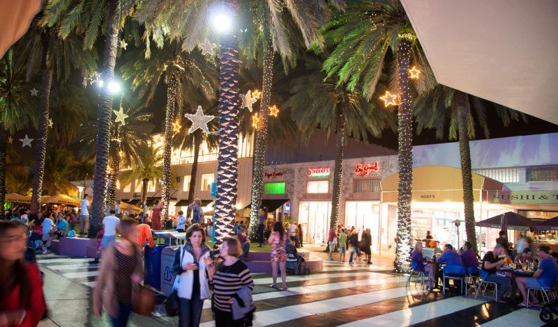 Kväll på Lincoln Road, South Beach Miami