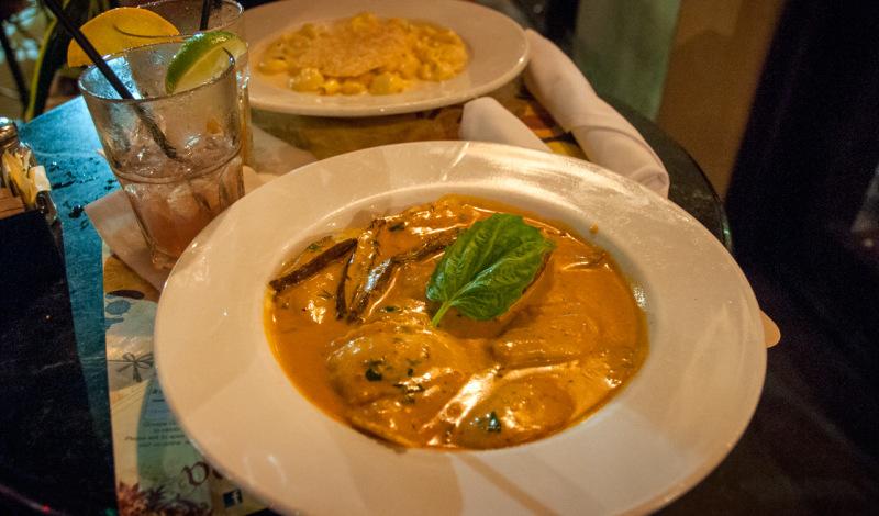 Middag på Van Dyke Cafe på Lincoln Road, South Beach Miami