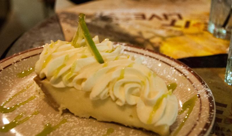 Key Lime Pie på Van Dyke Cafe på Lincoln Road, South Beach Miami