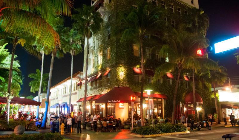 Van Dyke Cafe på Lincoln Road, South Beach Miami