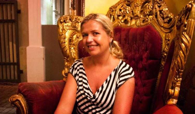 Anki på Café & Restaurant Mundo Bizarro, Willemstad