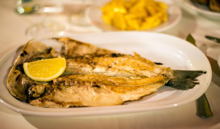 Middag på Ramos restaurang i Sabinillas