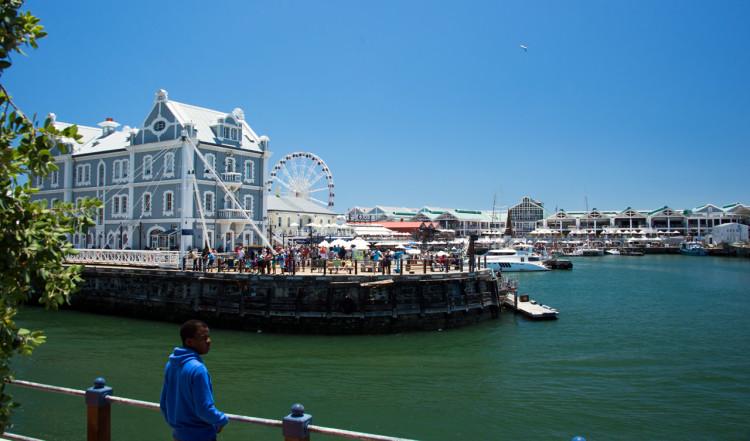 Vackra vyer i Waterfront området, Kapstaden