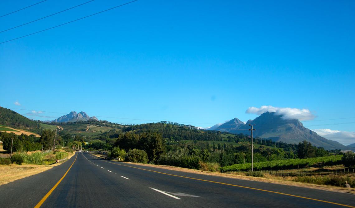 I Sydafrikas vindistrikt på väg mot Stellenbosch