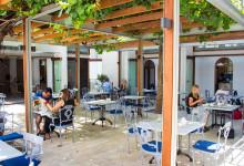Innergården till Oude Werf hotel, Stellenbosch