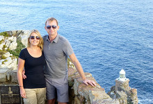 Anki & Lasse vid Cape Point, Sydafrika