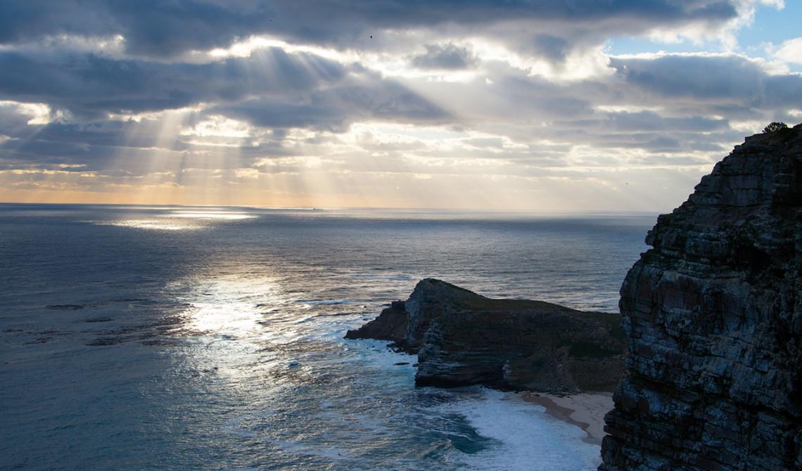 Solnedgång över Cape Point