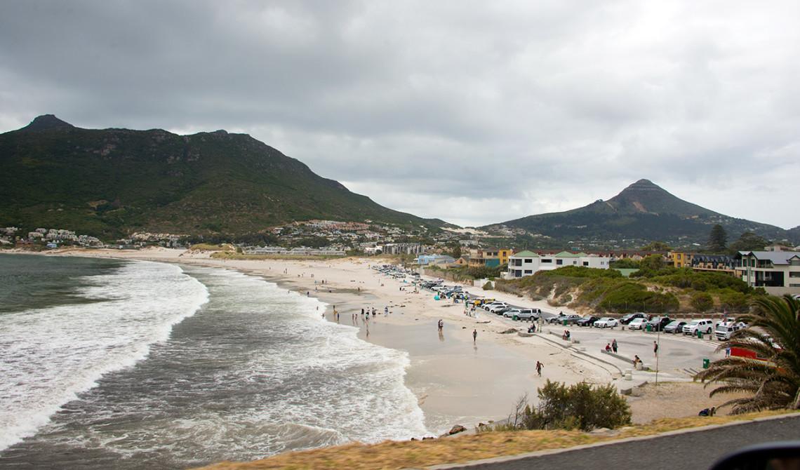 Vi närmar oss Hout Bay i Sydafrika