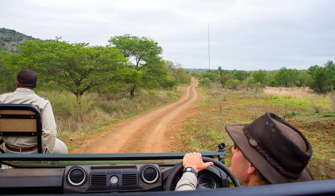Vår första safari tur på Thanda Private Game Reserve