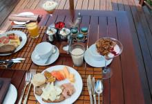 Frukost på Thanda Private Game Reserve