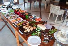Frukostbuffet på Thanda Private Game Reserve