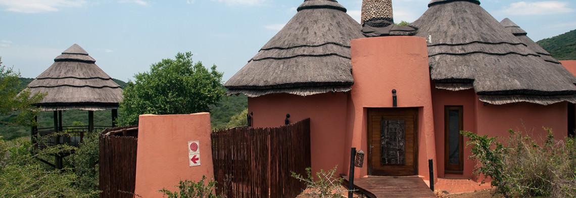Ingången till vår lodge, Thanda Safari Lodge, Thanda Private Game Reserve