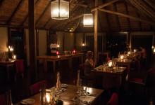 Middag på Thanda Private Game Reserve