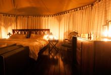 Efter middagen är tältet fint fixat - Thanda Tented Camp, Thanda Private Game Reserve