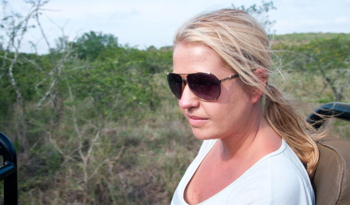 Anki under morgonens game drive, Thanda Private Game Reserve
