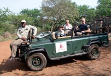 Dags att ta avsked från våra guider på Thanda Private Game Reserve