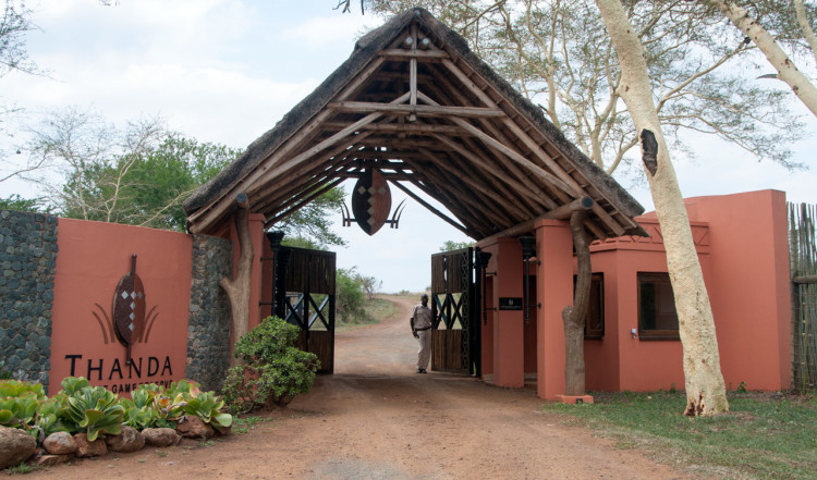 Huvud entren till Thanda Private Game Reserve