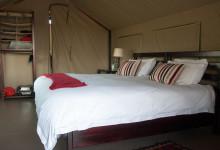 Vårt tält på Mavela Game Lodge