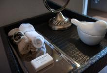 Tältets badrum, Mavela Game Lodge