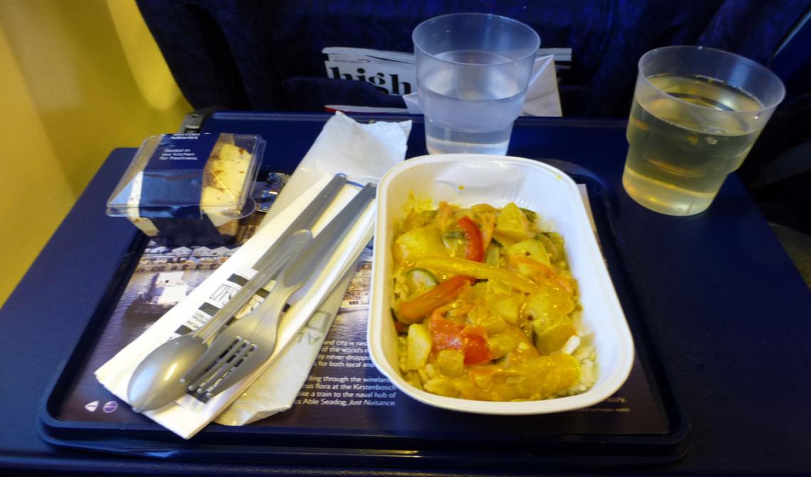 Middag ombord på ZA Express mellan Durban och Port Elizabeth